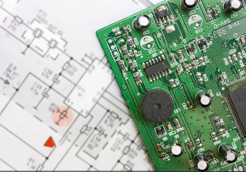 stock-photo-schematic-diagram-design-of-electronic-circuit-and-electronic-board-56232175
